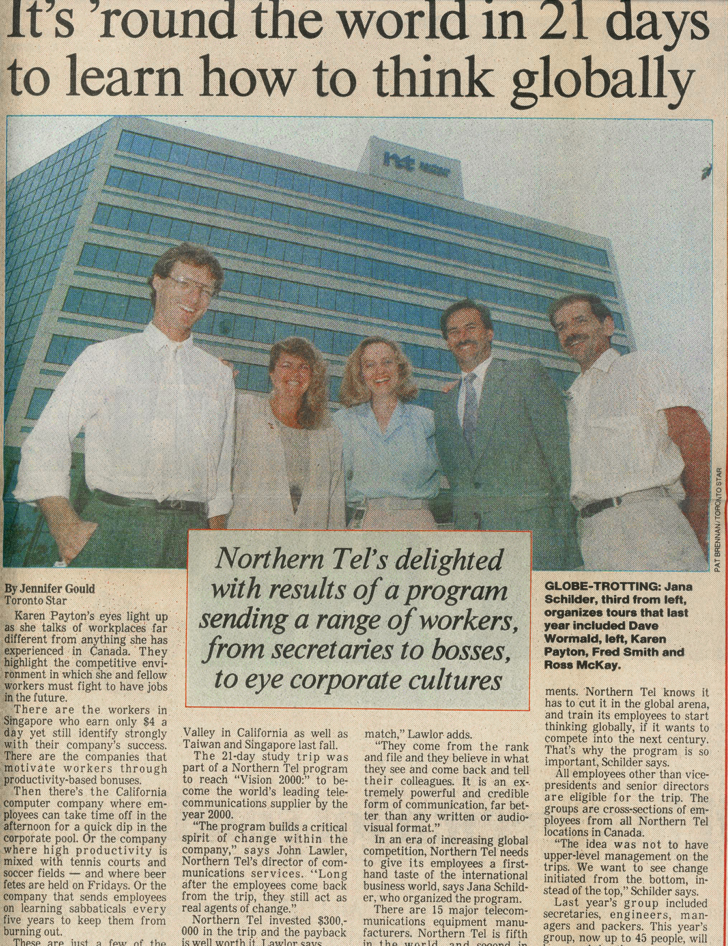 A feature article in the Business Section of The Toronto Star about Nortel's President's Council on Competition study tour program. To get to be the world's Number One telecom supplier, employees had to know what they were up against.