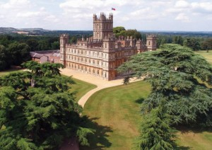 Downton Abbey - from the air